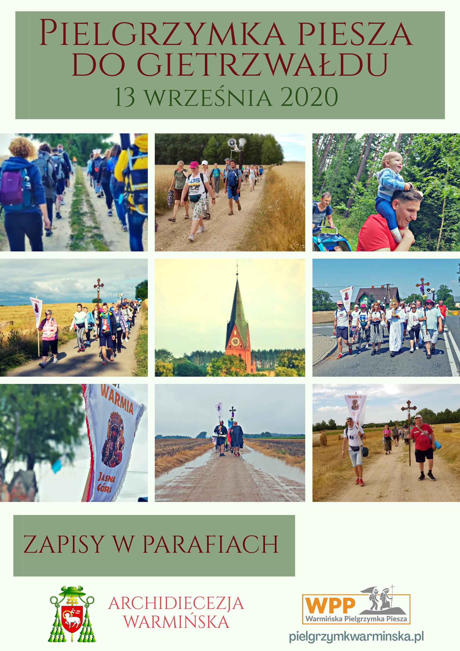 13.09.2020 r. – Pielgrzymka Piesza do Gietrzwałdu